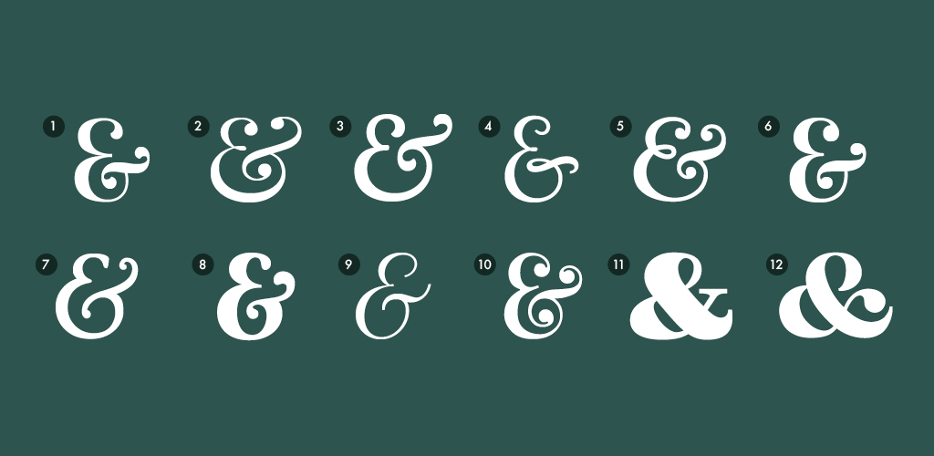 Free fonts with ampersands