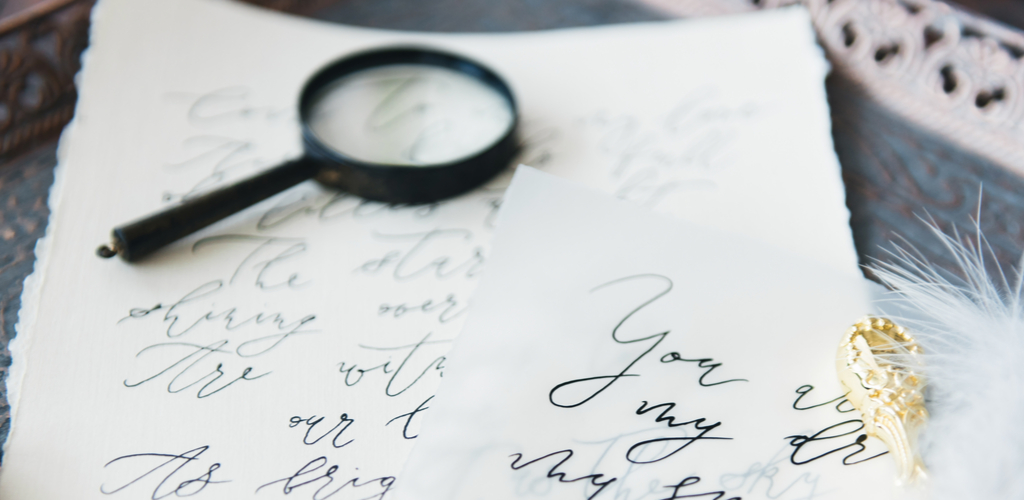 Calligraphy practice handwriting