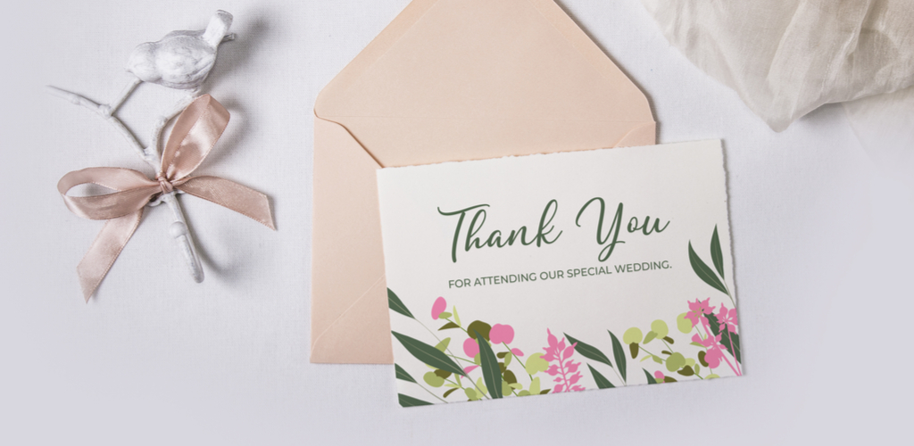 Mockup of thank you note