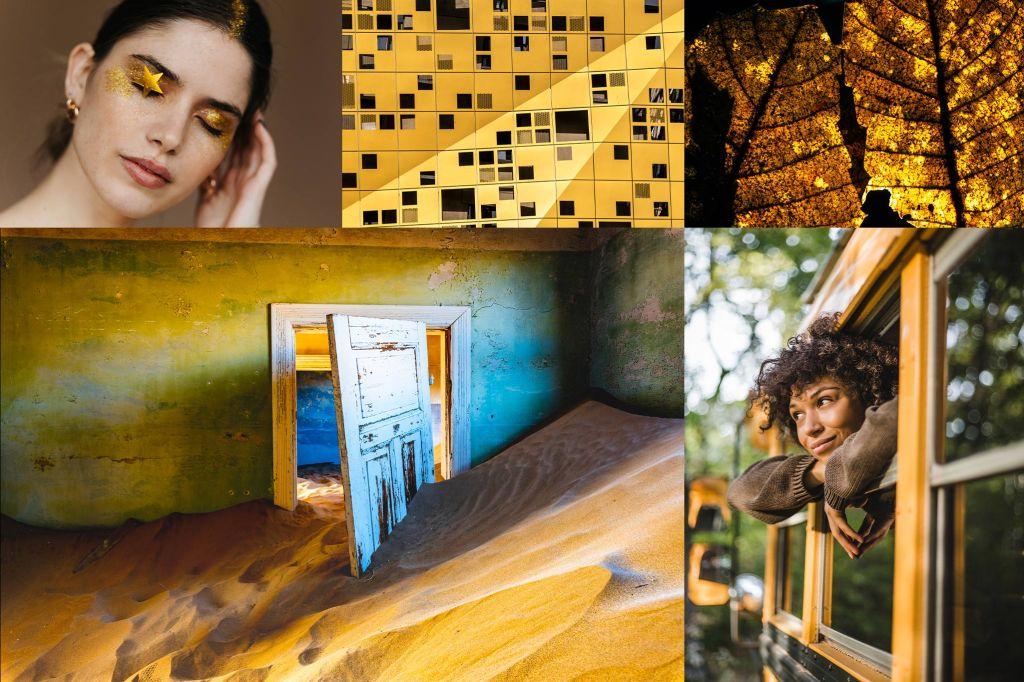 Fortuna Gold color trend mood board