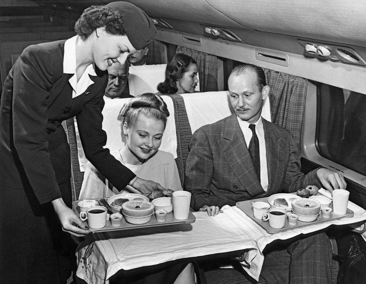 Dinner on Plane