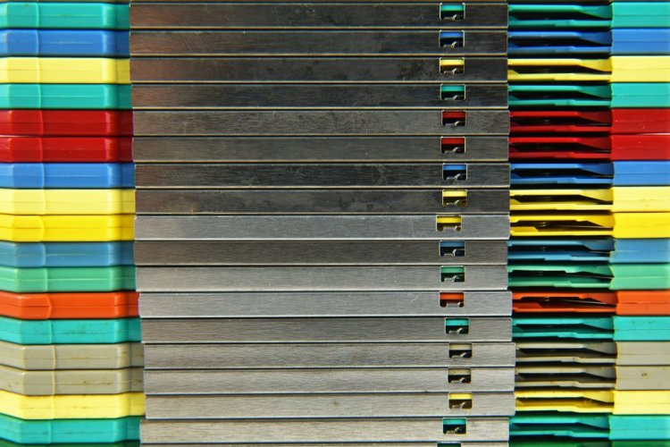 Stacked Floppy Discs