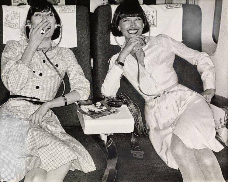 Vogue Models on Plane